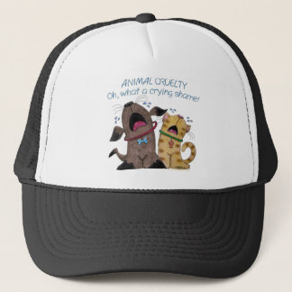 Crying Dog and Cat –What a Crying Shame Trucker Hat
