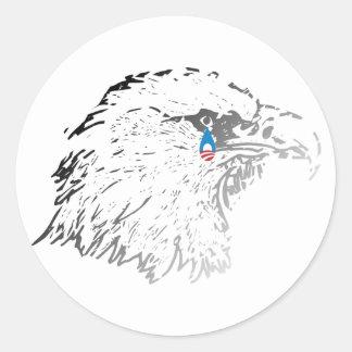 Crying Eagle Anti-Obama Sticker