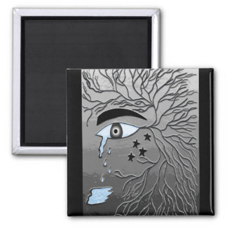 Crying Eye 2 Inch Square Magnet