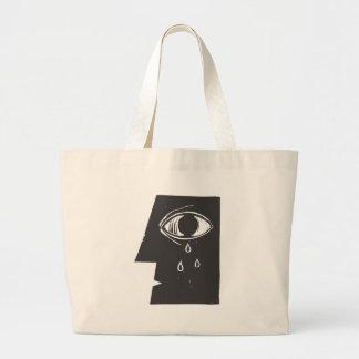Crying Eye Large Tote Bag