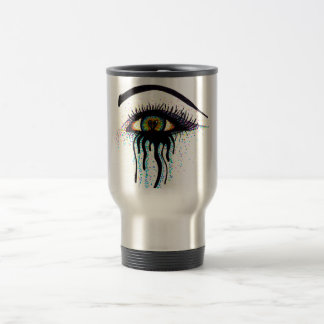 Crying Eye 15 Oz Stainless Steel Travel Mug