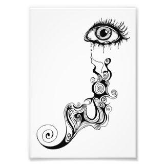 Crying Eye - Swirls Photo Print