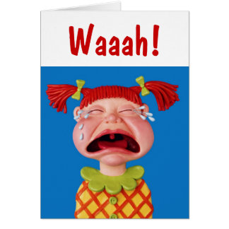 Crying Girl Card