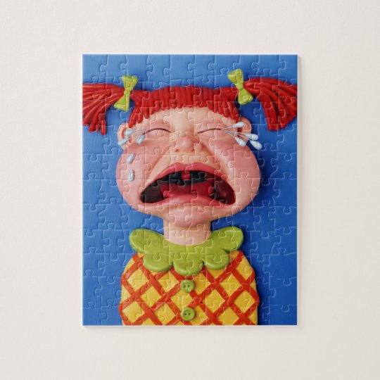 Crying Girl Jigsaw Puzzle