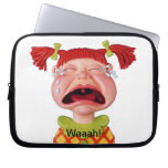 Crying Girl Laptop Computer Sleeves
