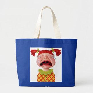 Crying Girl Large Tote Bag
