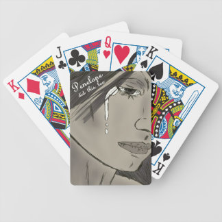 Crying Girl Bicycle Playing Cards
