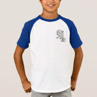 Crying Gray Young Wolf Pup Boy Girl Tee Shirts
