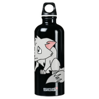 Crying Gray Young Wolf Pup Magnet Button Pillow Aluminum Water Bottle