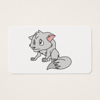 Crying Gray Young Wolf Pup Magnet Button Pillow Business Card