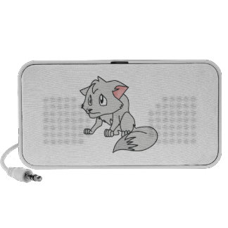 Crying Gray Young Wolf Pup Magnet Button Pillow PC Speakers