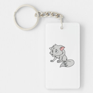 Crying Gray Young Wolf Pup Mug Bag Button Pin Keychain