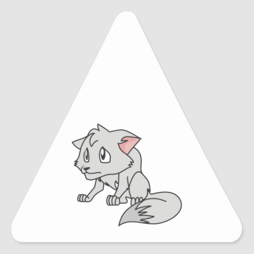 Crying Gray Young Wolf Pup Mug Bag Button Pin