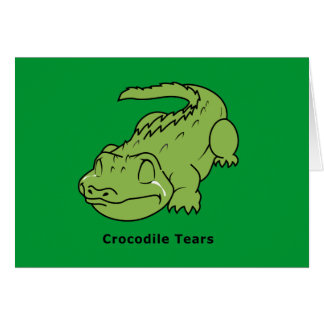 Crying Green Crocodile Tears Card Magnet Pin