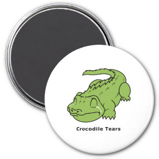 Crying Green Crocodile Tears Card Magnet Pin