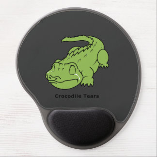 Crying Green Crocodile Tears Card Magnet Pin Gel Mouse Pad