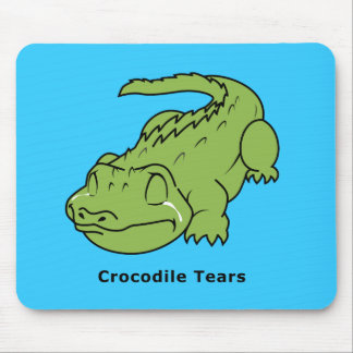 Crying Green Crocodile Tears Card Magnet Pin Mouse Pad