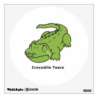 Crying Green Crocodile Tears Card Magnet Pin Wall Graphics