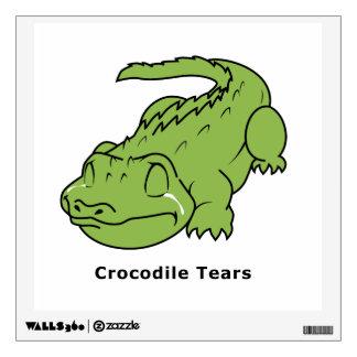 Crying Green Crocodile Tears Card Magnet Pin Room Sticker