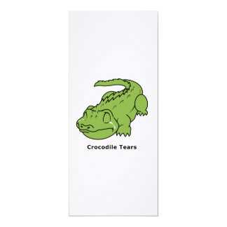 Crying Green Crocodile Tears Card Stamps Label
