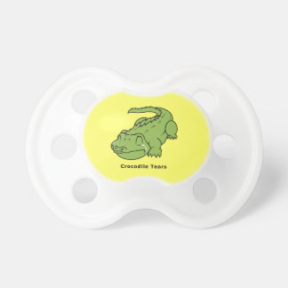 Crying Green Crocodile Tears Kids Shirt Boy Girl Pacifier