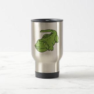 Crying Green Crocodile Tears Mug Bag Button Pin