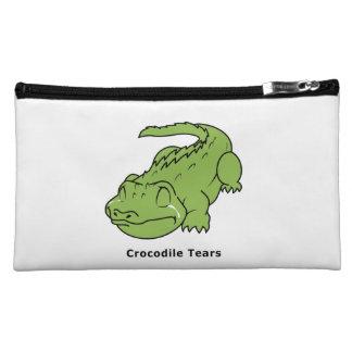 Crying Green Crocodile Tears Sticker Mug Bag Pins Cosmetic Bags