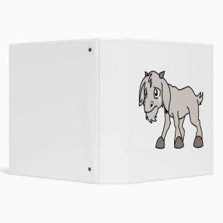 Crying Grey Young Goat Kid Animal Rights Day 3 Ring Binder