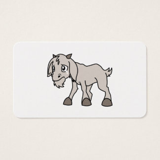 Crying Grey Young Goat Kid Animal Rights Day Business Card