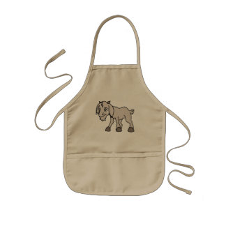Crying Grey Young Goat Kid Animal Rights Day Kids' Apron