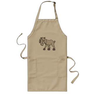 Crying Grey Young Goat Kid Animal Rights Day Long Apron