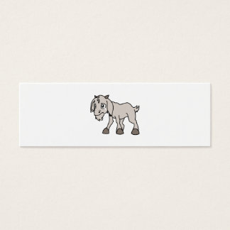 Crying Grey Young Goat Kid Animal Rights Day Mini Business Card