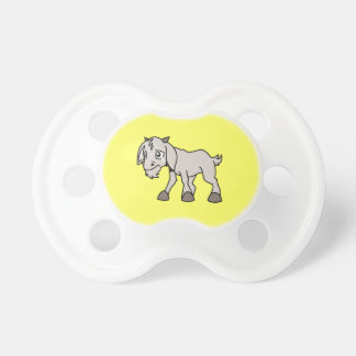 Crying Grey Young Goat Kid Animal Rights Day Pacifiers