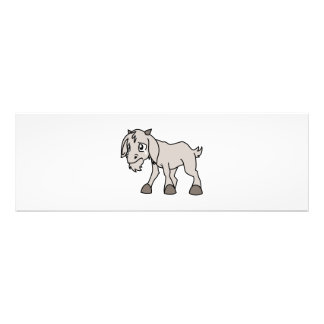 Crying Grey Young Goat Kid Animal Rights Day Photo Print