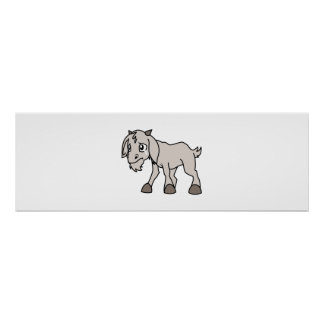 Crying Grey Young Goat Kid Animal Rights Day Posters