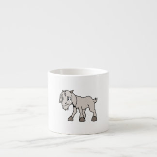 Crying Grey Young Goat Kid Animal Rights Day Espresso Mug
