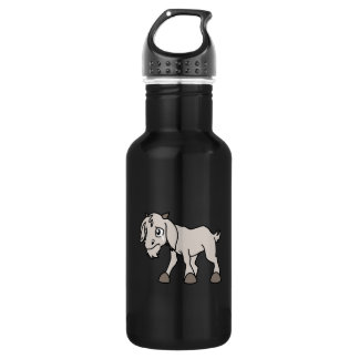 Crying Grey Young Goat Kid Animal Rights Day Water Bottle