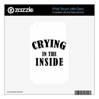 crying iPod touch 4G decals