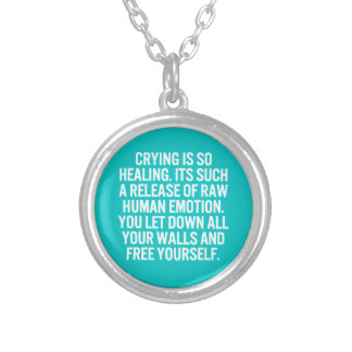 crying is so healing release raw human emotion let personalized necklace