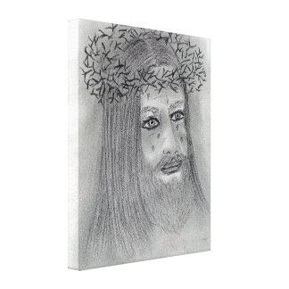 Crying Jesus Canvas Print