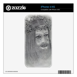 Crying Jesus Skin For iPhone 4
