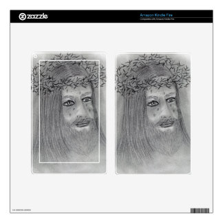 Crying Jesus Skins For Kindle Fire