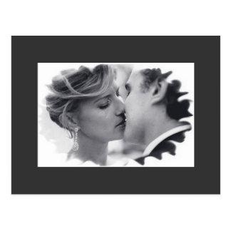 crying kiss postcard