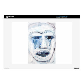 "Crying Man face portrait expressionism Skin For 15"" Laptop"