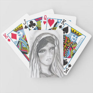 Crying Mary Bicycle Playing Cards