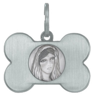Crying Mary Pet ID Tag