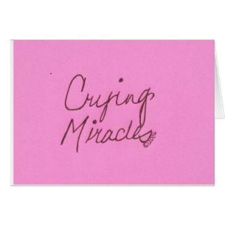crying miracles cursive card