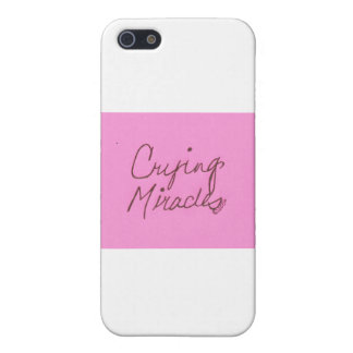 crying miracles cursive covers for iPhone 5