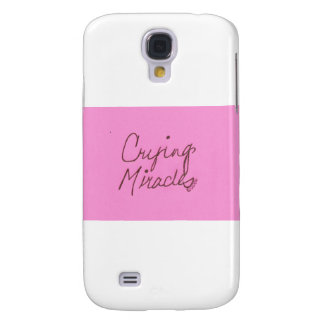 crying miracles cursive galaxy s4 cases