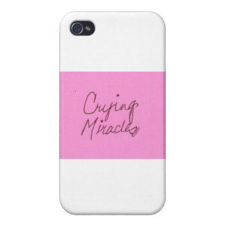 crying miracles cursive iPhone 4/4S covers